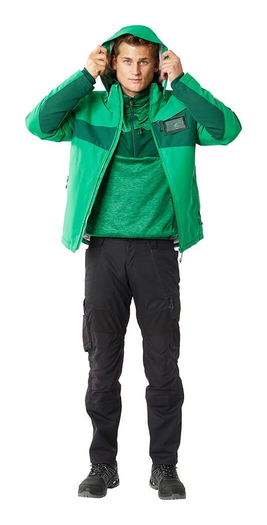 Model - Jacket, Half Zipped Jumper & Trousers - MASCOT® ACCELERATE