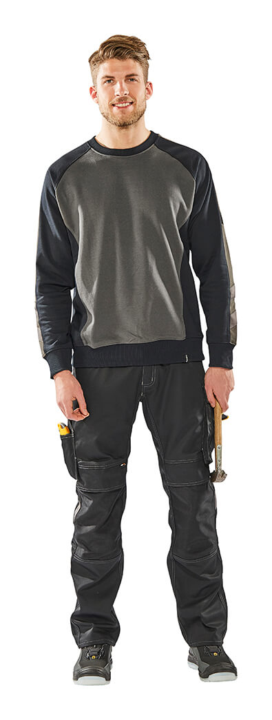MASCOT® UNIQUE - Man - Grey - Sweatshirt & Trousers with kneepad pockets