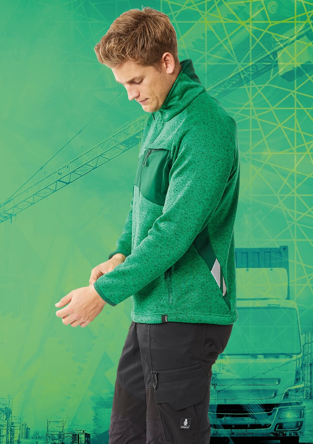 Trousers & Work Jumper - MASCOT® ACCELERATE Brand DNA - Green