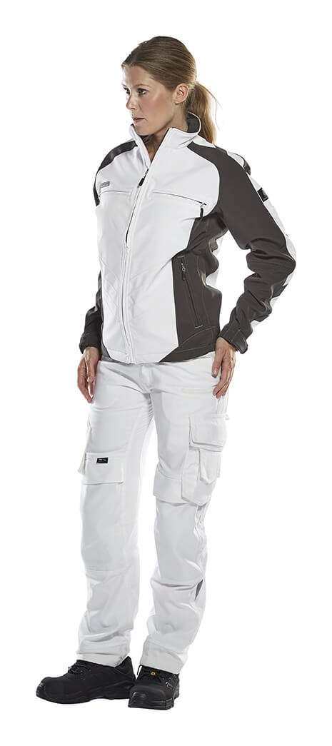 White - Softshell Jacket & Work Trousers - Woman