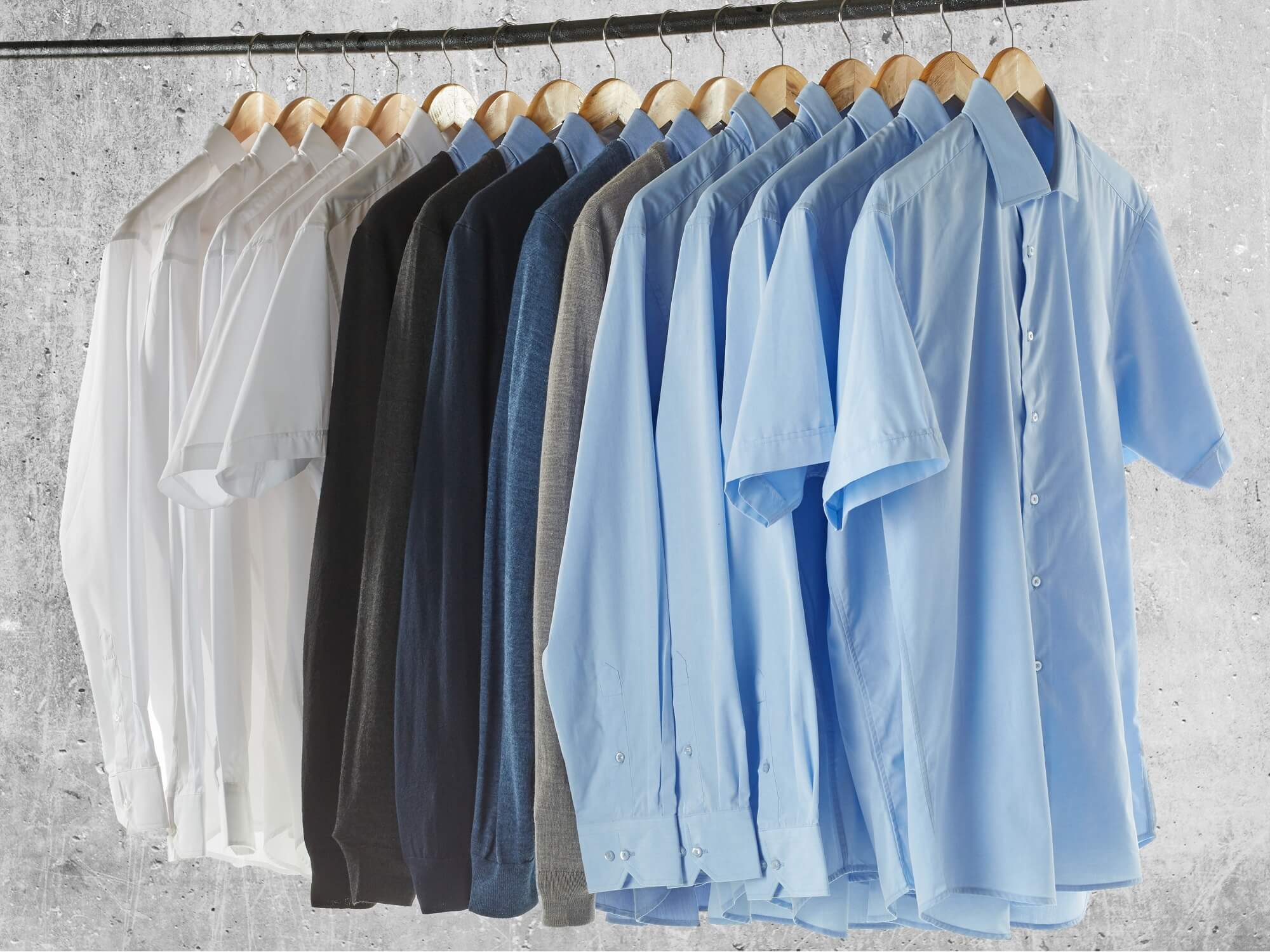 Shirts & Knitted Jumpers - Light blue & White