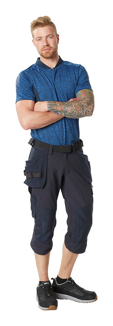 Man - MASCOT® ACCELERATE Polo shirt & ¾ Length Trousers with kneepad pockets and holster pockets