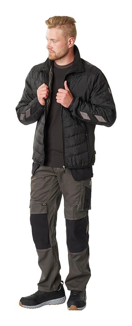 Thermal Jacket & Work Trousers - Black - MASCOT® ACCELERATE