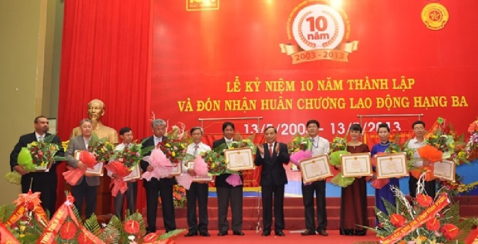 Award show - Own factories in Vietnam: