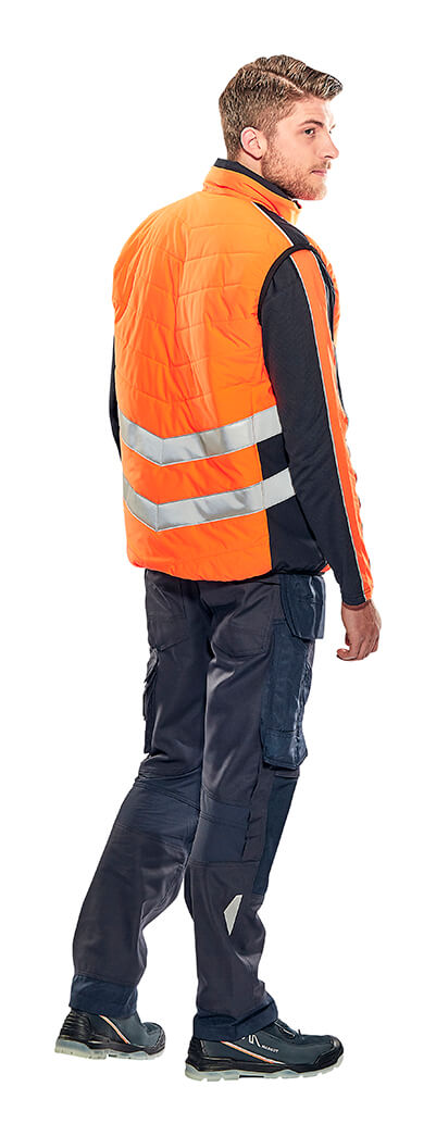 Winter Gilet, Jumper & Trousers with kneepad pockets - Fluorescent orange - MASCOT® SAFE SUPREME - Model