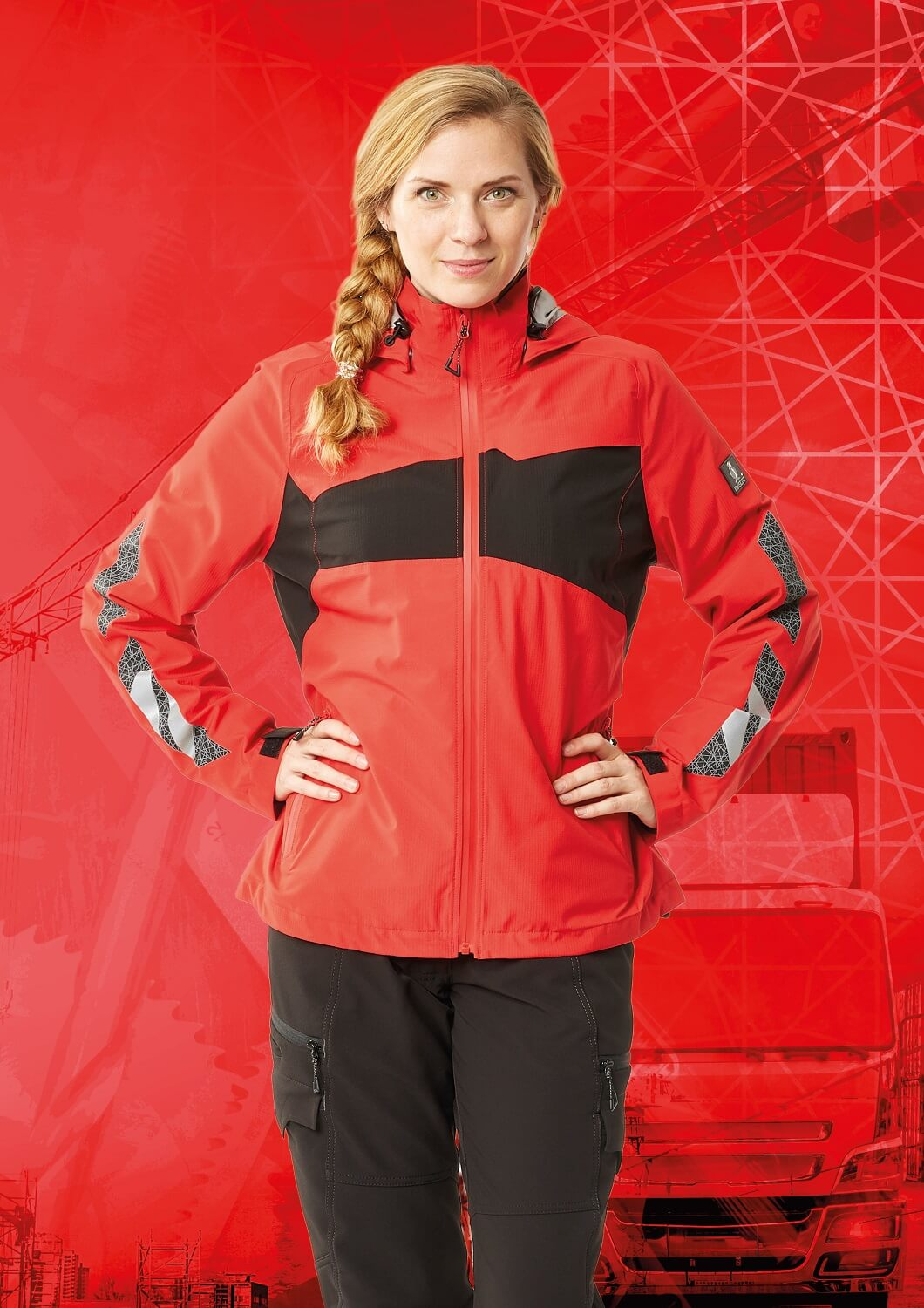 Trousers & Jacket for women  - Red - MASCOT® ACCELERATE