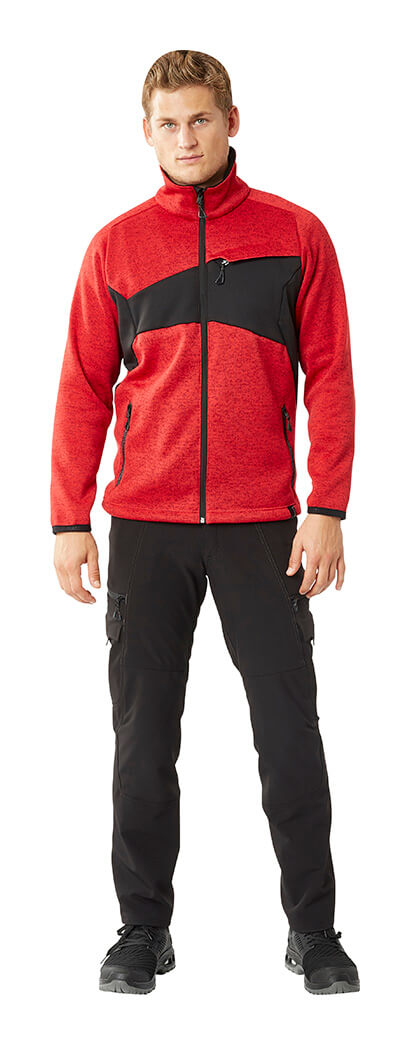 Trousers & Zipped Jumper - Red & Black - Man - MASCOT® ACCELERATE