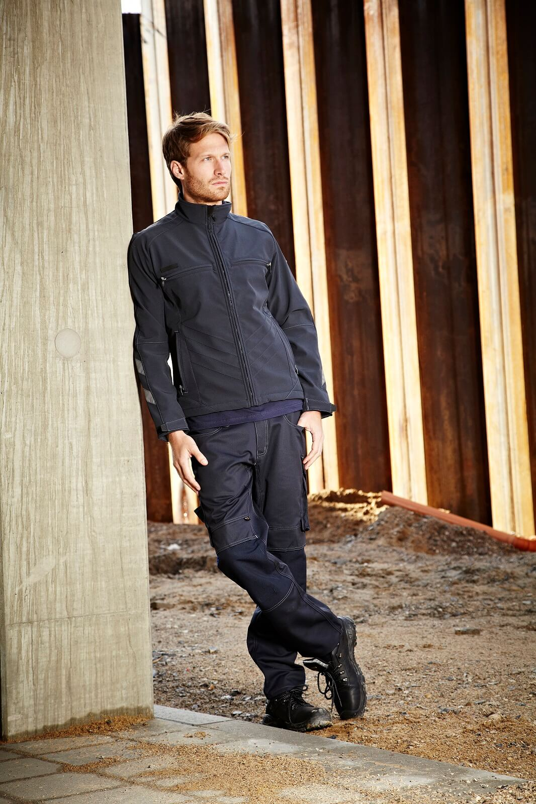 Softshell Jacket & Work Trousers - Navy - Environment - MASCOT® UNIQUE