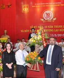 2013 - Own factories in Vietnam: - Award