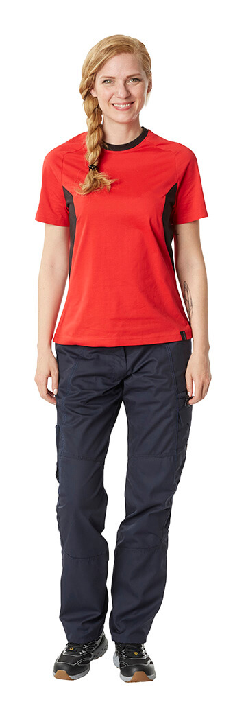 Trousers & Work T-shirt - Red & Black - Woman - MASCOT® ACCELERATE