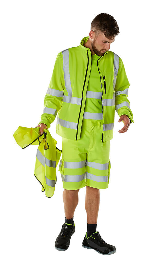 Fluorescent yellow - Shorts, Jacket, T-shirt & Traffic Vest - Model - MASCOT® SAFE CLASSIC