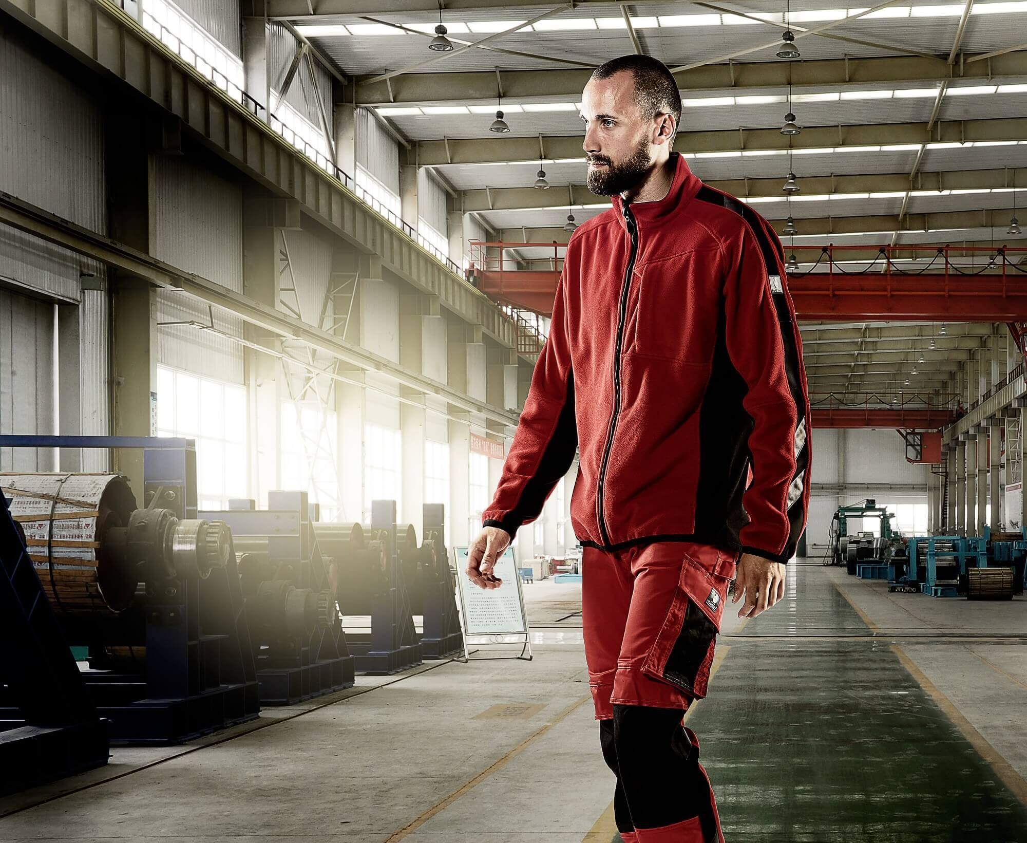 MASCOT® UNIQUE Red - Fleece Jacket & Trousers - Man - Environment