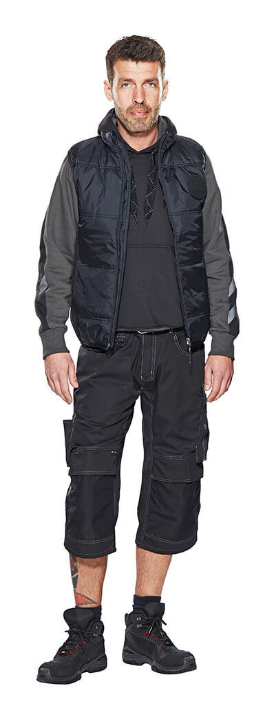 Model - Black - UNIQUE ¾ Length Trousers with kneepad pockets, Gilet & Jumper