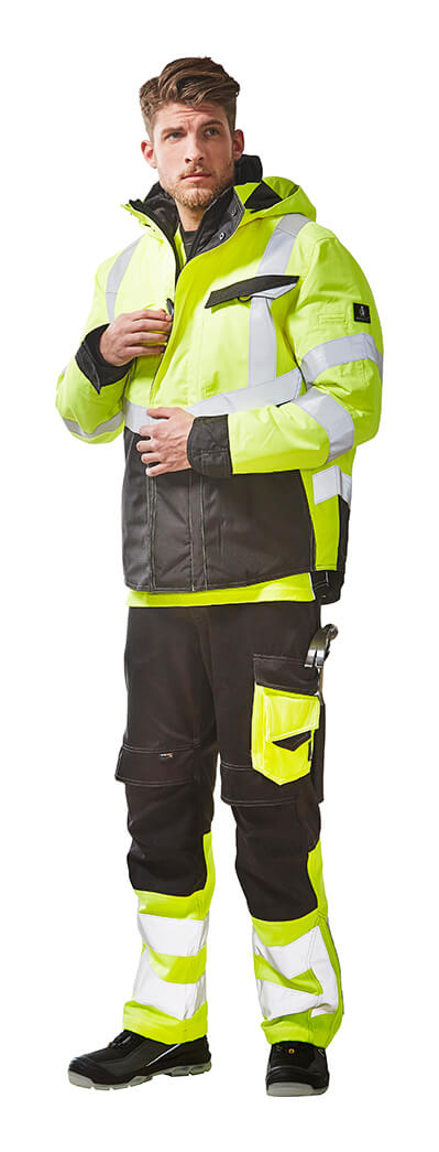 Work Jacket & Trousers - MASCOT® SAFE SUPREME - Fluorescent yellow - Model