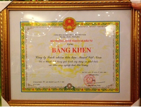 Award - Own factories in Vietnam: - 2013