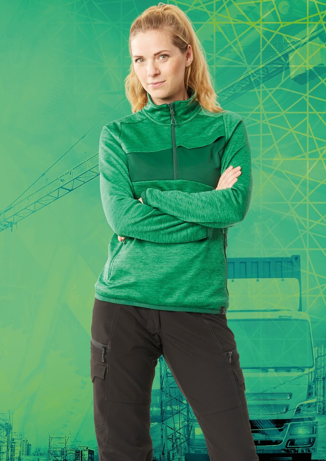 Jumper & Trousers - Green - MASCOT® ACCELERATE