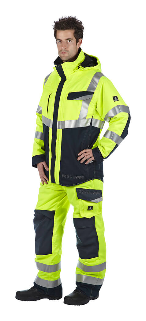 Model - Multi-protective safety workwear - Fluorescent yellow - MASCOT®