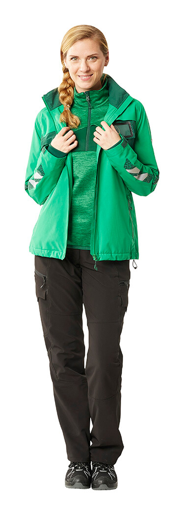 Green - Work trousers for women, Jumper & Jacket - Woman