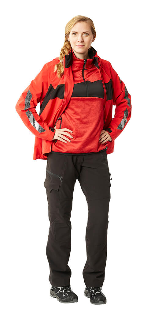 MASCOT® ACCELERATE Work trousers for women, Jumper & Jacket - Red - Woman